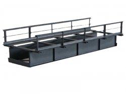 Fertigmodell 1-gleis. Blechträgerbrücke T15 -15 cm- H0