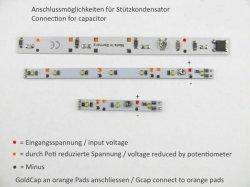 LED wagon lighting, 145mm