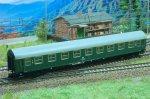 D-Zugwagen YB70 grün DR- TT