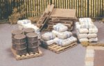 Kit with pallets, sacks and barrels H0 /00