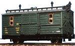 PMT/Technomodell 2-achs.Schmalspur Packwagen DR, Ep.III, H0e
