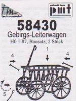 Bausatz für 2 Handwagen (Leiterwagen) - Nenngröße H0