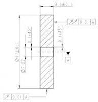 Schwungmasse Ø17mm -Bohr. Ø2,0mm