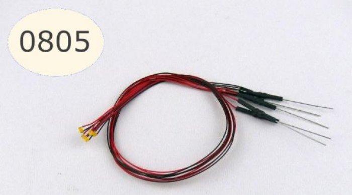 5 Stück SMD LED 0805 anschlussfertig warmweiß