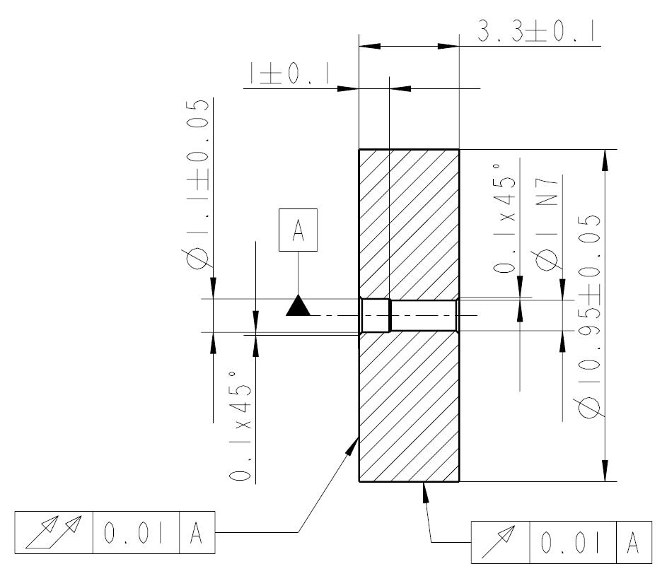 1 Schwungmasse, Ø11x3,3mm Bohrung Ø: 1,0mm