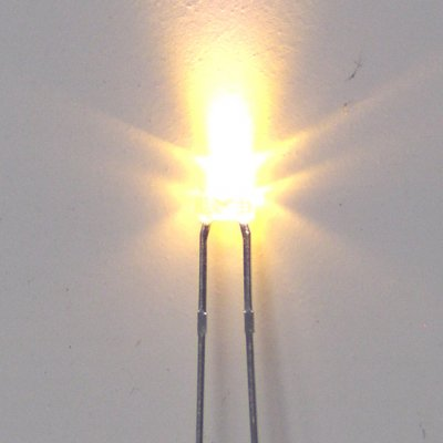 1x LED -warmweiss - bedrahtet-  Ø1,8mm