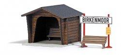 Busch Bausatz Haltepunkt Birkenmoor,  H0