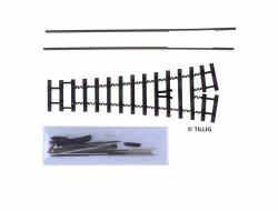 Tillig Flex Weichenbausatz Spur H0e,  9 mm