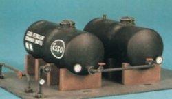 Bausatz Tankstelle, Tanklager für Dieselloks H0