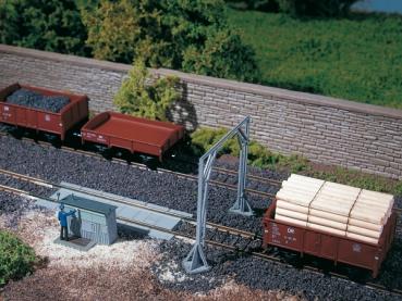 Auhagen Bausatz Gleiswaage mit Lademaß H0