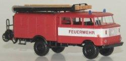 W50 Feuerwehr Löschgruppenfahrzeug m. Bauchbinde,Schlauchhaspel TT