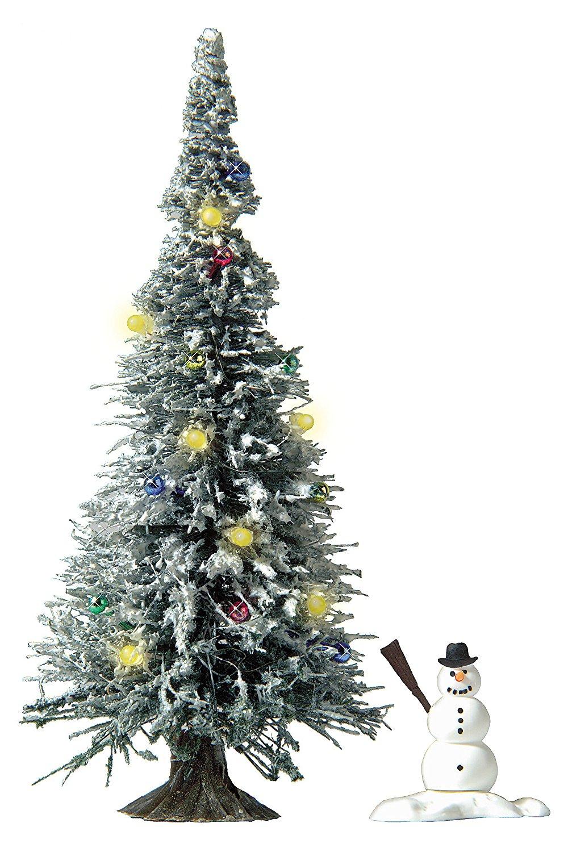 Busch, beleuchteter Weihnachtsbaum (SMD LED`s) mit Schnee , H0