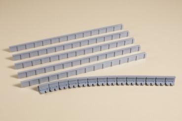 Auhagen 41200 - 6 Bahnsteigkanten, je 241 x 13 mm Nenngröße H0