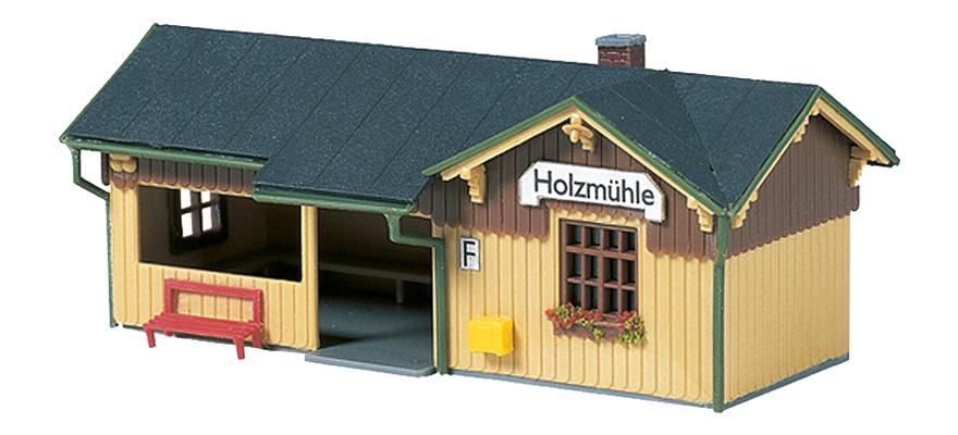 Auhagen Bausatz Haltepunkt Holzmühle, H0