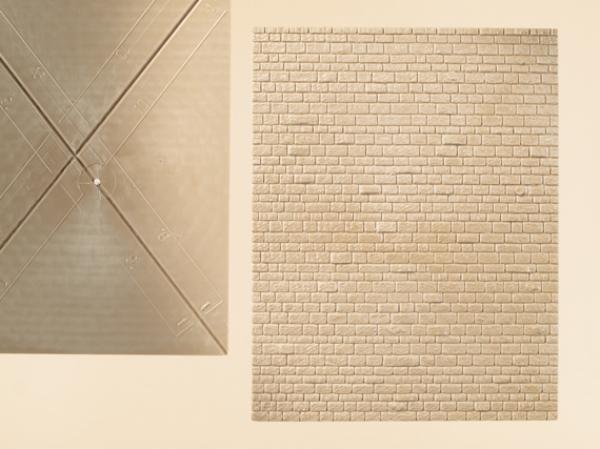 2 Steinmauerplatten/ Mauerwerkplatten , H0/ TT