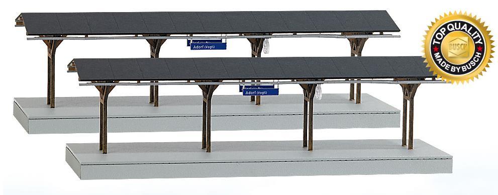 """Busch Bausatz Bahnsteig """"Adorf"""" - Nenngr.  H0"""
