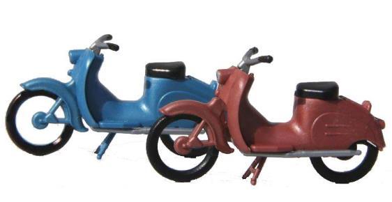 KRES Set 2 Stück Mopeds KR50, H0