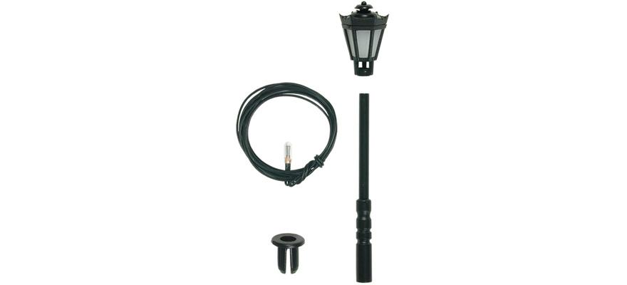 Viessmann Bausatz Parklaterne/ Straßenlaterne schwarz, LED,  H0