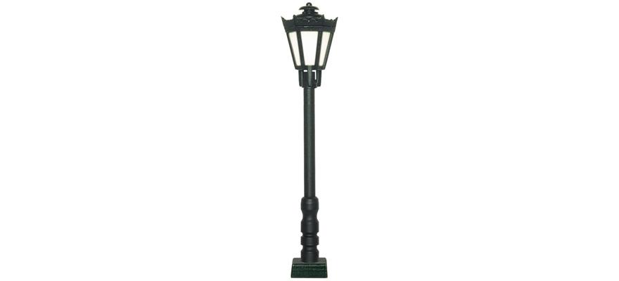Viessmann Parklaterne/ Straßenlaterne schwarz, LED,  H0