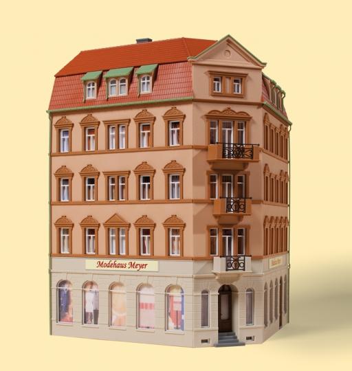 Auhagen Bausatz Eckhaus Markt 1, Nenngr. TT