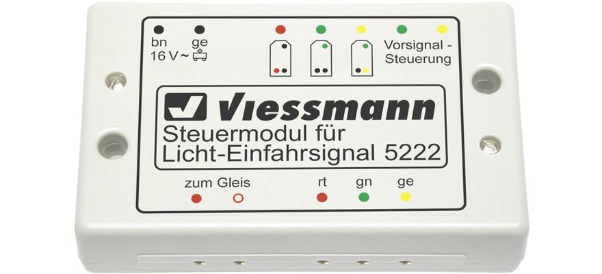 Viessmann 5222 Steuermodul für Licht Einfahrsignale - für alle Nenngrößen