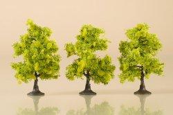 Auhagen 3 Laubbäume hellgrün, Höhe 7 cm, Nenngröße: H0, TT und N