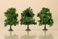 Auhagen 3 Laubbäume dunkelgrün, Höhe 7 cm, Nenngröße: H0, TT und N
