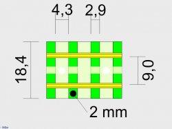 Modulübergang/ Segmentübergang 4 Schwellen H0e