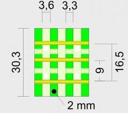 Modulübergang/ Segmentübergang 4 Schwellen H0/H0e