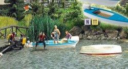 Busch 5480 See mit fahrendem Boot, Nenngrößen H0, TT und N