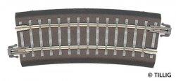 Tillig Bettungs-Gleisstück Bogen R12,  R 310 mm / 15 °, Spur TT