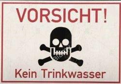 """10 Decals(Naßschiebebilder)""""Vorsicht-kein Trinkwasser"""" TT"""