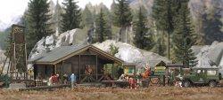 Busch Wald-Set   Waldhütte mit viel Zubehör , H0