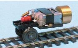 Weinert Einachslaufwerk mit Mabuchi Motor und Schwungmasse,NEM Radsatz  Spur H0