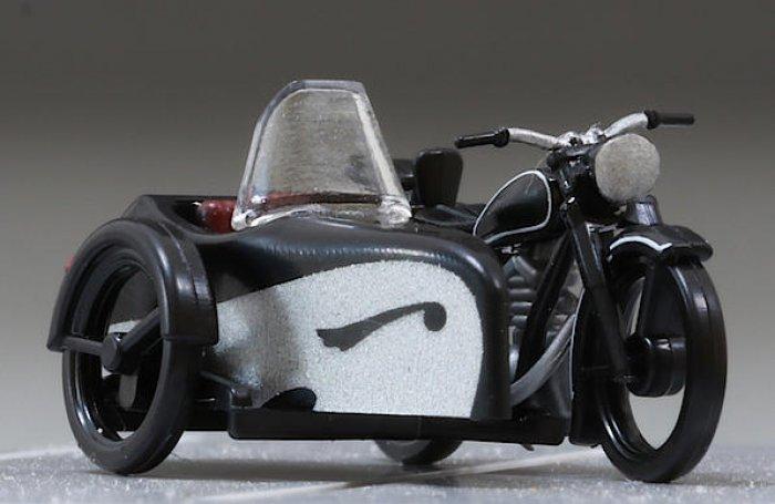 Motorrad AWO 425T mit Seitenwagen. Nenngröße TT