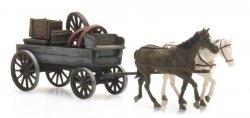 Artitec Fertigmodell Pferdefuhrwerk mit Ladung, H0
