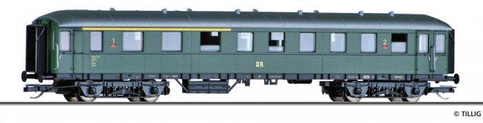 Tillig Reisezugwagen- Eilzugwagen 1./2. Klasse AB4ü, DR Ep. III, Spur TT