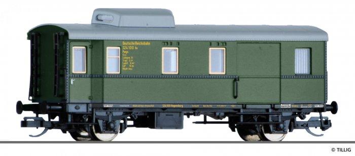 Tillig 13479 Güterzugpackwagen Pwgs-38 der DRG,  Ep. II, Spur TT