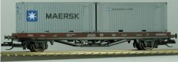 "Containertragwagen Lgs mit 2  20 Fuß Container ""Maersk"" DB Ep. V Spur TT"