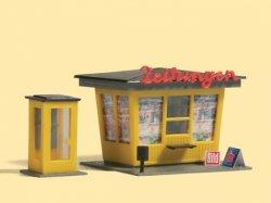 Auhagen 12340  Bausatz Zeitungskiosk und Telefonzelle - Nenngrößen H0/TT