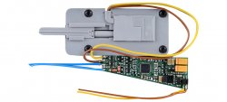 Viessmann 4567 motorischer Weichentrieb für Tillig Bettungsweichen, Spur TT,mit integriertem Funktionsdecoder (DCC, Motorola und analog)