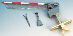 Weinert Bausatz 1 Paar Schranken mit Behang u.Motorantrieb, Nenngr. H0