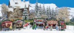 Busch 1059 Bausatz Weihnachtsmarkt, Nenngröße H0