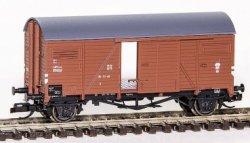 Hädl G- (gedeckter) Güterwagen mit bewegl. Schiebetüren, DR, Ep. III, Spur TT