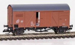 Hädl G- (gedeckter) Güterwagen mit beweglichen Schiebetüren, DR, Ep. IV, Spur TT