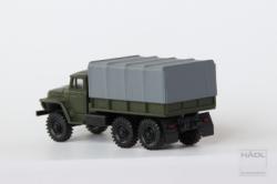 Hädl Ural 375 Pritsche mit geschlossener Plane NVA Militärgrün, Nenngröße TT