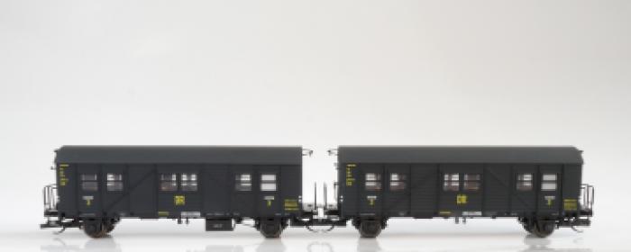 MCi43 Hädl Behelfspersonenwagen, DR  Epoche II, 2er Set, Spur TT