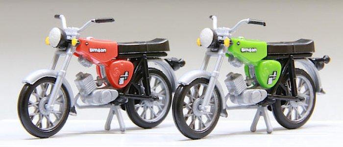 Kres 2 Stück Mopeds Simson S51, Nenngröße H0