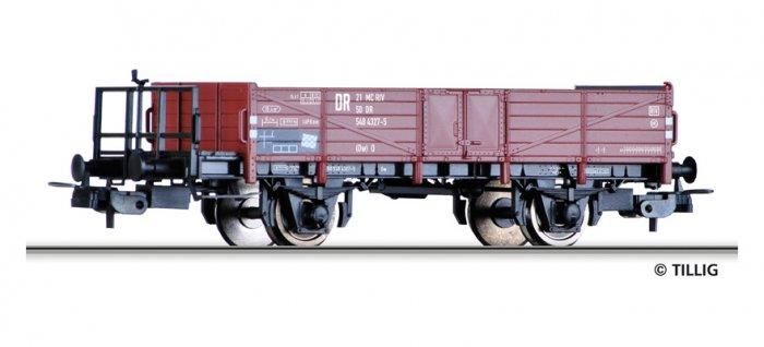 Tillig 76732 Offener Güterwagen Ow mit Bremserbühne der DR, Ep. IV, Spur H0