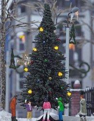 Busch Fertigmodell beleuchteter Weihnachtsbaum ohne Schnee, Nenngröße H0 (1:87)